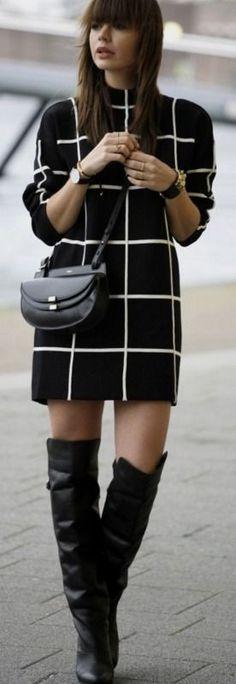 LOAVIES GRID SWEATER DRESS - Fashion Zen | WannabeMag #loavies