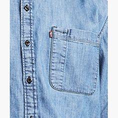 Levi's Skateboarding Riveter Shirt - Men's M Cotton Shirts For Men, Men Shirts, Denim Button Up, Button Up Shirts, Pocket Pattern, Skateboarding, Denim Shirt, Fashion Details, Vip