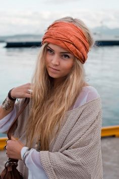 head wrap. Can't wait until my hair is long enough to pull this off(;