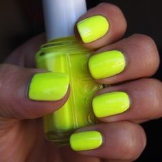 Lime 3 Green Nailsneon Yellow