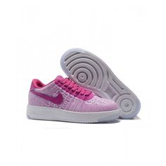 Salg Billig Dame Nike Air Force 1 Flyknit Pink Sko I Nike Air Force 1 Dame på butikken Air Force 1, Nike Air Force, Sneakers, Pink, Shoes, Fashion, Tennis, Moda, Slippers