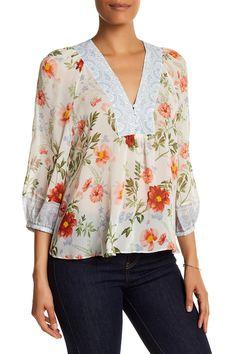Floral Silk Blouse