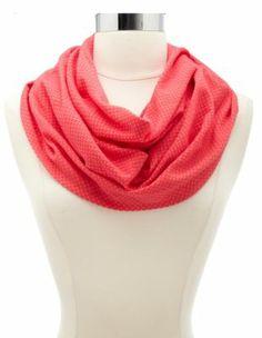 polka dot textured infinity scarf