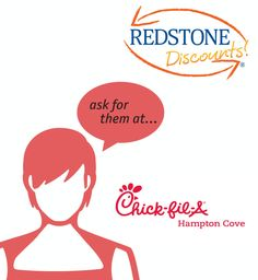 Delicious chicken, waffle fries, fresh lemonade, and more! Save when you cater your next event with Chic-Fil-A at Hampton Cove! Click to learn what deal is waiting for you. Simply use your Redstone Debit or Credit Card and ask for the Redstone Discount.