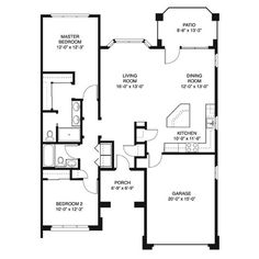 House Plans 1200 To 1400 Square Feet | ... Bedroom 650 Sq Ft 1 Bed Summit  Cottage Two Bedroom 1300 Sq Ft 2 Bed | House Plans | Pinterest | House Plans,  ...