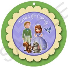 Sofia the First and Prince James 3d Favor tags. 3 by GRAPHIKdesign