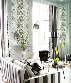 ECLECchic: INSPIRACIÓN EN BLANCO Y NEGRO: Tricia Guild #decor #black white #living room