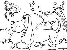 Dibujo para colorear de perros (nº 10)