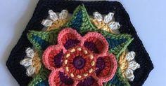 Transcendent Crochet a Solid Granny Square Ideas. Inconceivable Crochet a Solid Granny Square Ideas. Motifs Granny Square, Crochet Blocks, Granny Square Crochet Pattern, Crochet Flower Patterns, Crochet Squares, Crochet Blanket Patterns, Crochet Flowers, Knitting Patterns, Granny Squares