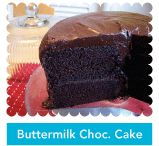 the most AMAZING chocolate buttermilk cake....check out halving the recipe