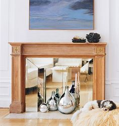 Love the reflective energy of this unusable fireplace mirrored over gorge!