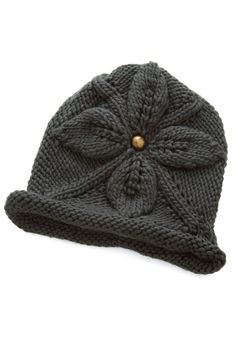 Tender Loving Flair Hat. What better way to treat yourself than to curl up by the hearth in this charcoal-grey beanie? #grey #modcloth
