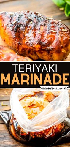 Not only is this Teriyaki Marinade recipe quick and easy to make, but it is also a blend of sweet, salty, and garlicky. Plus, it only calls for pantry ingredients! Learn how to make this teriyaki marinade! Grilled Chicken Recipes, Easy Chicken Recipes, Easy Dinner Recipes, Asian Recipes, Appetizer Recipes, Yummy Recipes, Grilling Recipes, Grilling Ideas, Cooking Recipes