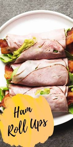 What could be an easier or more delicious low carb lunch than Ham Roll Ups? I love to make these with Hillshire Farm® Black Forest Ham that I get from WalMart on the lunchmeat wall! Fun Recipes, Bacon Recipes, Diet Recipes, Healthy Recipes, Ham Roll Ups, Low Carb Lunch, Black Forest Ham, Low Carb Meats, Meat Lovers