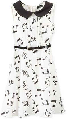 - Ruby Rox Girls' Music Note Dress on shopstyle.com. #fashion #style #music #dress #musicfashion http://www.pinterest.com/TheHitman14/hey-ladies-musical-fashion/