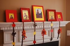 Curious George Party Ideas - decorate with red frames & curious George books