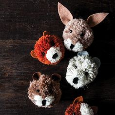 These adorable little furry faces will make a fun DIY project for the whole family. They& designed by my friend China Squirrel! Glue Crafts, Craft Stick Crafts, Yarn Crafts, Diy And Crafts, Arts And Crafts, Bead Crafts, Handmade Crafts, Cool Diy Projects, Craft Projects
