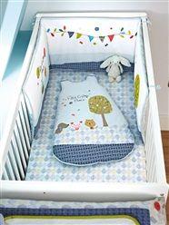 Wattierte Bettumrandung für Babys