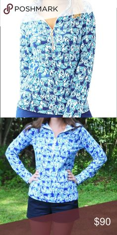 Lilly Pulitzer Get Trunky Popover 🐘 NWT. Never worn. Trying to save for the Captain Popover style instead. Lilly Pulitzer Tops Sweatshirts & Hoodies