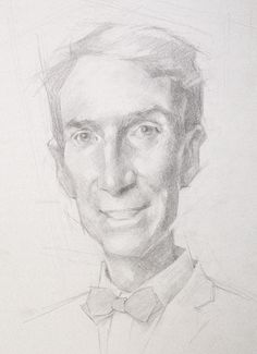 Sketch of Bill Nye - Jeff Haines