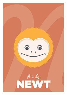 A6 Nursery Animal illustration  colour digital by DesignIsJust