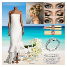 """Mermaid Beach Wedding"" by waitingformybucky on Polyvore featuring Sachin + Babi, Monsoon, Sole Society and Yves Saint Laurent"