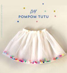 DIY pom pomm tutu skirt #sewing