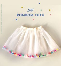 DIY pom pomm tutu skirt #sewing
