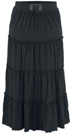 black *tiered* maxi skirt <3