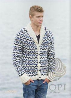 - Icelandic Rökkur (Dusk) Mens Wool Cardigan Blue - Tailor Made - Nordic Store Icelandic Wool Sweaters  - 1