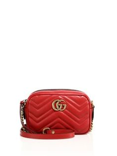 GUCCI Mini Chevron Leather Camera Bag. #gucci #bags #shoulder bags #lining #suede #