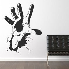 "Style and Apply The Hand Wall Decal Size: 99"" H x 31"" W, Color: Gold"