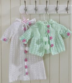Hooded Bunting and Sweater Set Crochet Pattern