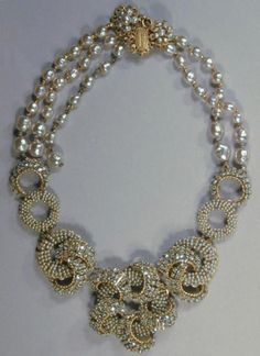 Miriam Haskell Necklace for Sale at Auction on Wed, 11/01/2000 - 07:00 - Couture and Textiles | Doyle Auction House