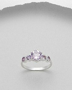Inel argint si ametist Heart Ring, Engagement Rings, Jewels, Enagement Rings, Wedding Rings, Bijoux, Commitment Rings, Heart Rings, Pave Engagement Rings