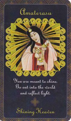 Amaterasu in Goddess Inspiration Oracle by Kris Waldherr