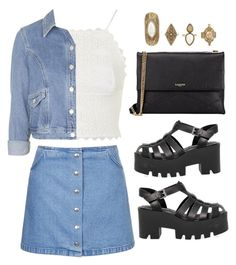 """""""Grunge"""" by zafirahx ❤ liked on Polyvore featuring Topshop, Windsor Smith, Lanvin and grunge"""