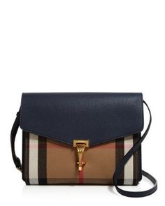 Burberry Small House Check Macken Crossbody  f6d893e809107