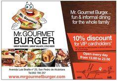 Mr. Gourmet Burger - Discount brochure designed by Redline Company www.redlinecompany.com