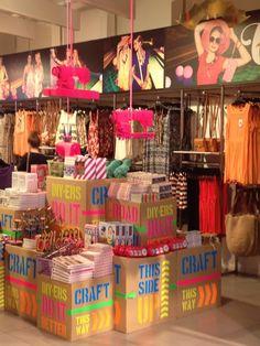 A closer look: Sportsgirl, Australia « The Window Shopper , love those pink sewing machines, JWF #pink, #display, #retail