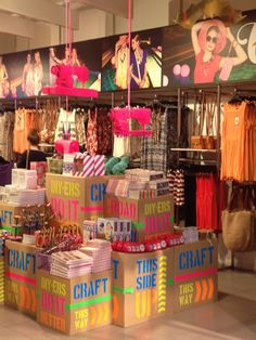 A closer look: Sportsgirl, Australia « The Window Shopper , love those pink sewing machines, JWF #pink, #display, #retail