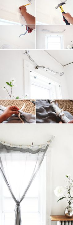 Curtain Rods cowboy curtain rods : Rustic Birch Branch Curtain Rod | Branch curtain rods, Birches and ...