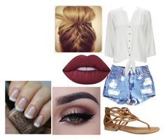 """""""Untitled #1991"""" by hey-mate ❤ liked on Polyvore featuring Wallis, Lime Crime and OPI"""