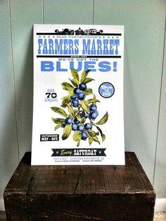Got The Blues Blueberry Letterpress Poster | Farmer's Market art print #letterpress #letterpressprint #art #blueberry #blueberries #farmersmarket Canning Jar Labels, Blues, Vintage Seed Packets, Paper Companies, Letterpress Printing, Vintage Recipes, Farmers Market, Food Art, Screen Printing