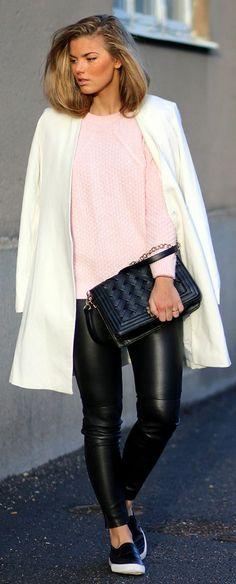 Light Pink Knit Sweater by Frida Grahn