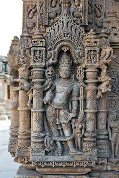 ✯Hindu Mandir (Temple) Carving at Sas-Bahu Temple at Eklingji - India