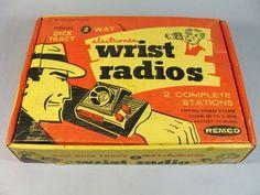 Rare vintage dick tracy 2 way electronic wrist radio by remco w/box Retro Toys, Vintage Toys, Retro Vintage, Antique Toys, Nostalgic Images, Modern Toys, Best Ups, I Have Forgotten, Baby Boomer