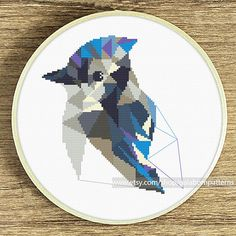 Cross stitch pattern Blue Jay Cross stitch PDF Bird cross