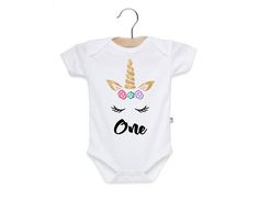 Unicorn First Birthday First Birthday Outfit Baby Girl First Birthday Outfits, First Birthdays, Unicorn, Onesies, Trending Outfits, Unique, Handmade Gifts, Kids, Baby