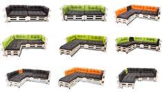 Pallet Cushions, Garden Cushions, Sans Serif, Cool Designs, Ebay, Cowls
